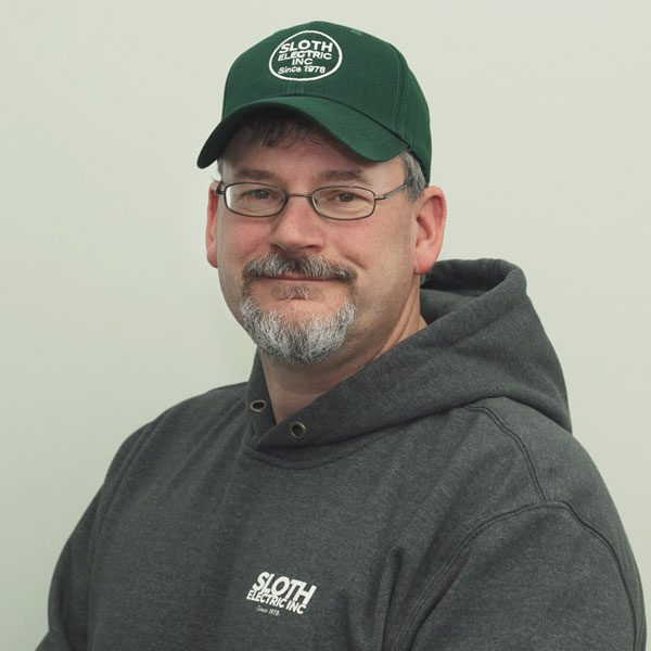Todd started working at Sloth Electric in 1992 and received his Masters of Electric in 2010. Todd is a Senior Project Manager and runs the business with Doug Sloth.